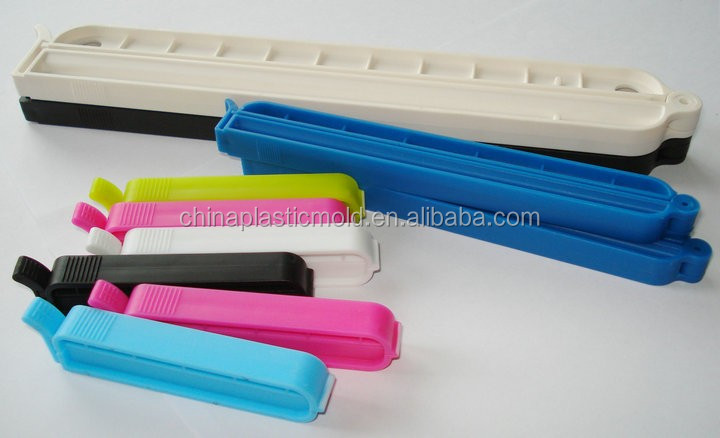 70/110/150/220mm plastic sealing clip bread bag closure colored plastic clip