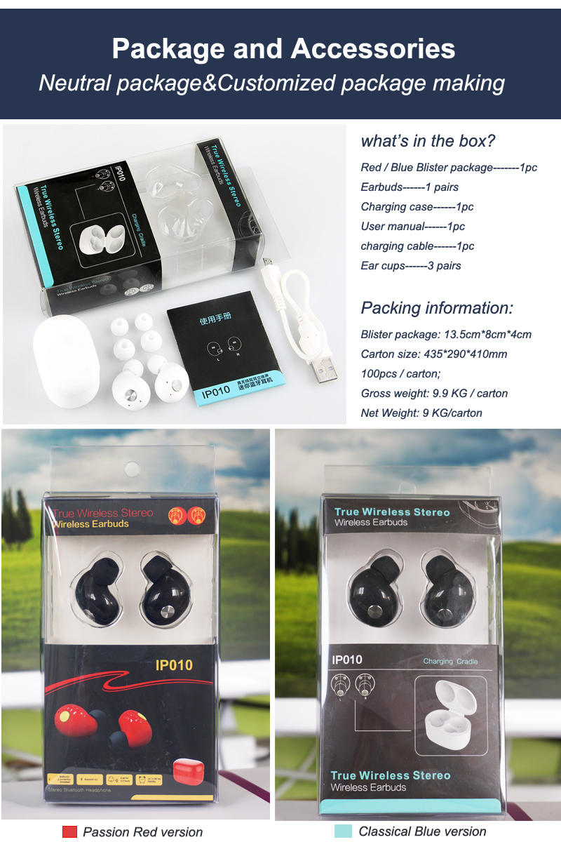 Super mini wireless Earbuds Blue-tooth earphone for Apple/Andriod/Windows