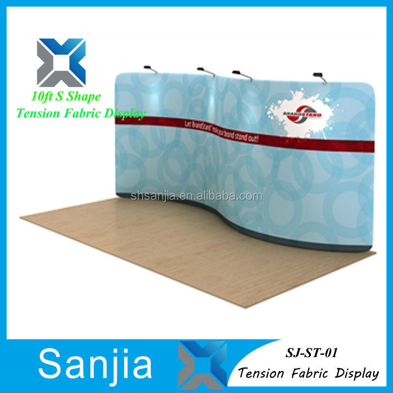 Aluminum S Shape Tension Fabric display New Products Display Banner Wall Mounted Tension Fabric Backdrop Wall