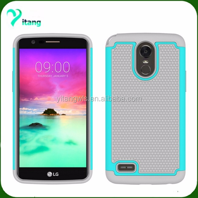 For LG stylo 3 ballistic armor case hard 2 in 1 pcs cover with factory price