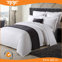 Satin cotton embroidered hotel bedding sets 4pcs bed set