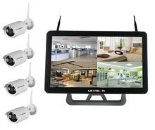 LS VISION 720P/960P/1080P WIFI NVR kit in 4/8 channel, h.264 wifi nvr kits wireless camera wifi nvr kit with monitor