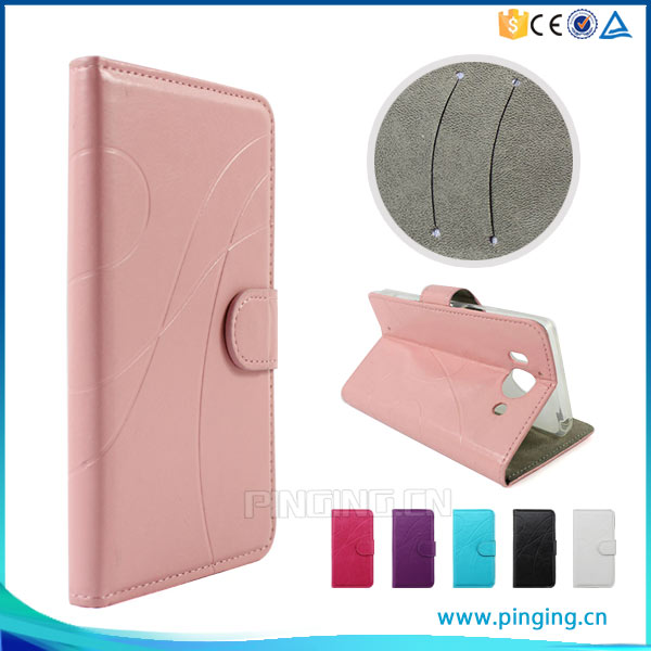 New arrival mobile phone leather case for hisense u602 , with card slots case for hisense u602