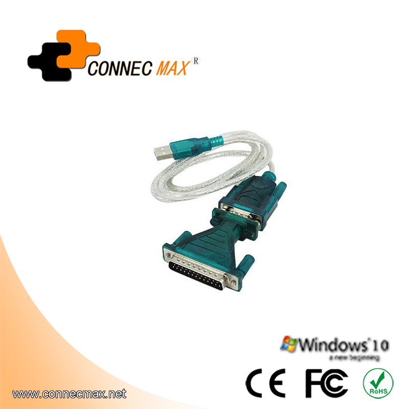 USB 2.0 to Serial (9-Pin) DB-9 RS-232 Converter Cable
