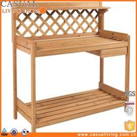 Plants Bench Outdoor Garden Work Bench Station Planting Solid Wood Construction Shelf