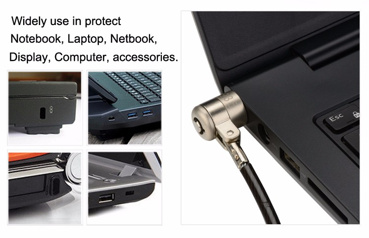 Laptop Notebook Netbook Security Display Steel Wire Lock
