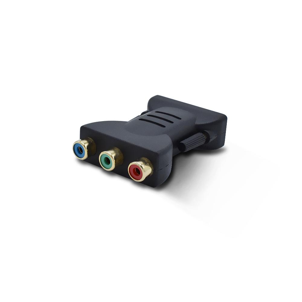 DVI-D 24 + 5 BROCHES Mâle à 3 Ports RCA Femelle Transfert Adaptateur Vidéo - ANKUX Tech Co., Ltd