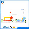 New arrival hot sale multifunction three wheels 2 in 1 three big wheels push kids kick scooter for kids