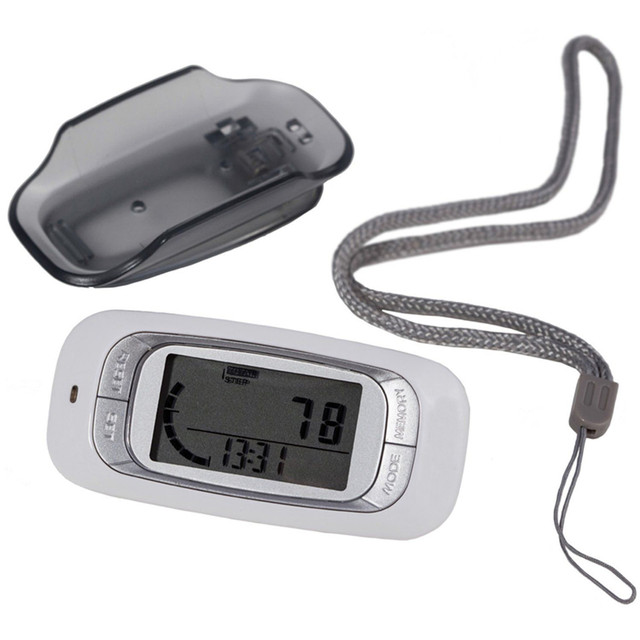 Hot Sale white 3D Sensor LCD Display Digital running Pedometer with 7-Day Memory Step Calorie Distance Counter Health Tracker
