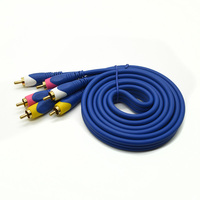 japan direct tv av video cable supplier 3RCA male to 3RCA male 1.5M,3M,5M,10M,15M,20M