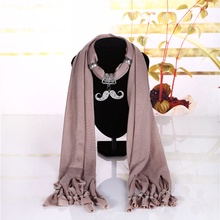 Attaching electroplate decorations ornaments girls neck tie scarf with jewelry