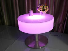Outdoor high top led bar table and chairs with light