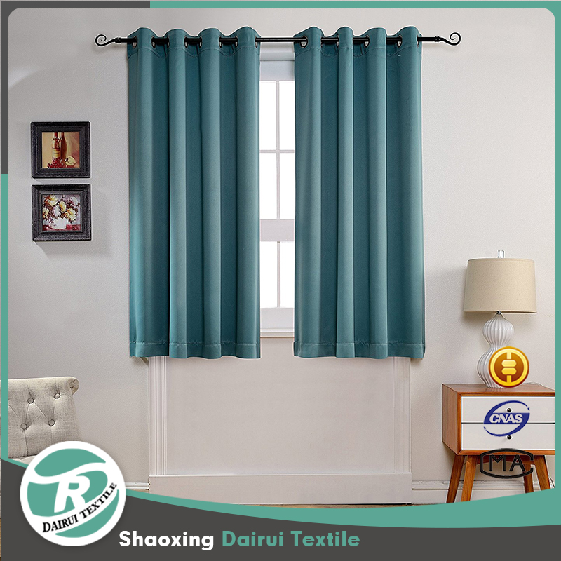 Modern top eyelet hotel living room sound proof blackout curtain
