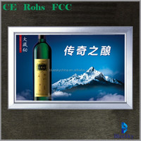 Newest goods Click snape frame aluminium profile led backlit light box poster frame for beer advertising