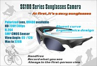 China Manufacturer SG-100 Top Rated 720P Sunglasses Camera, Waterproof Sunglasses Camera, HD Sunglasses Camera