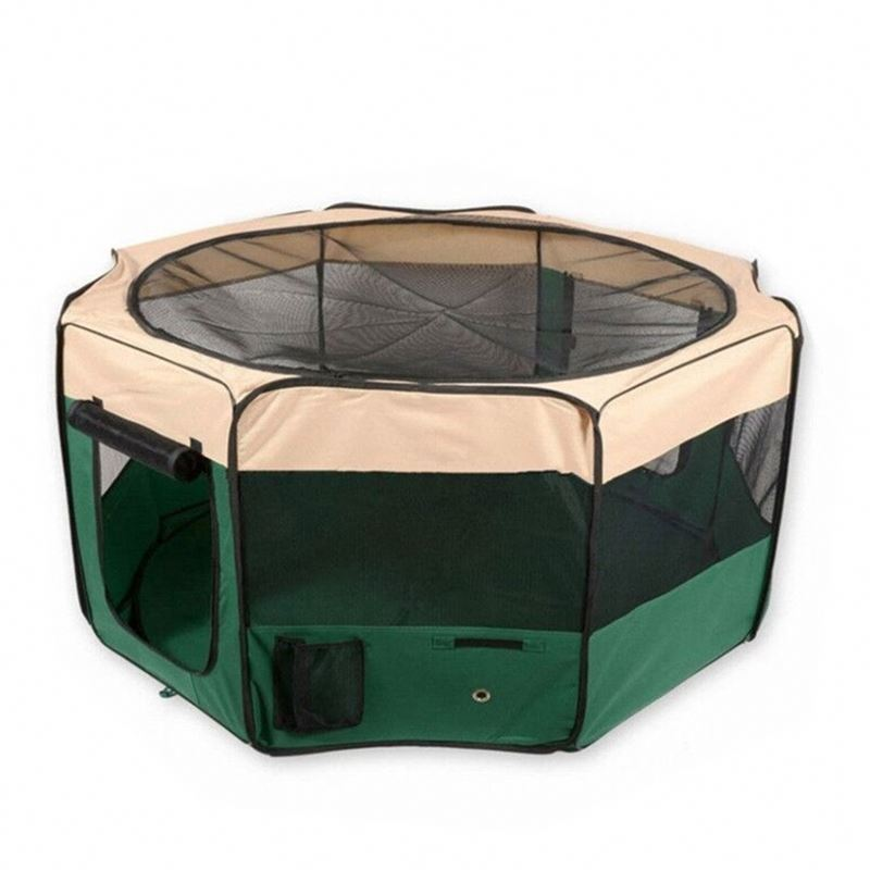 Hot Selling Cage With Plastic Pet Playpen W/ Tray Pan