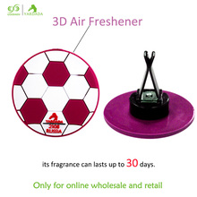 France football fans car ornament personal air conditioner outlet perfume smell remover lavender car freshener