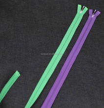 Open end two-way 7# Nylon slider Zippers with Double Sliders X Type