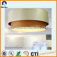 cheap price lampshade material/PVC material for lampshade