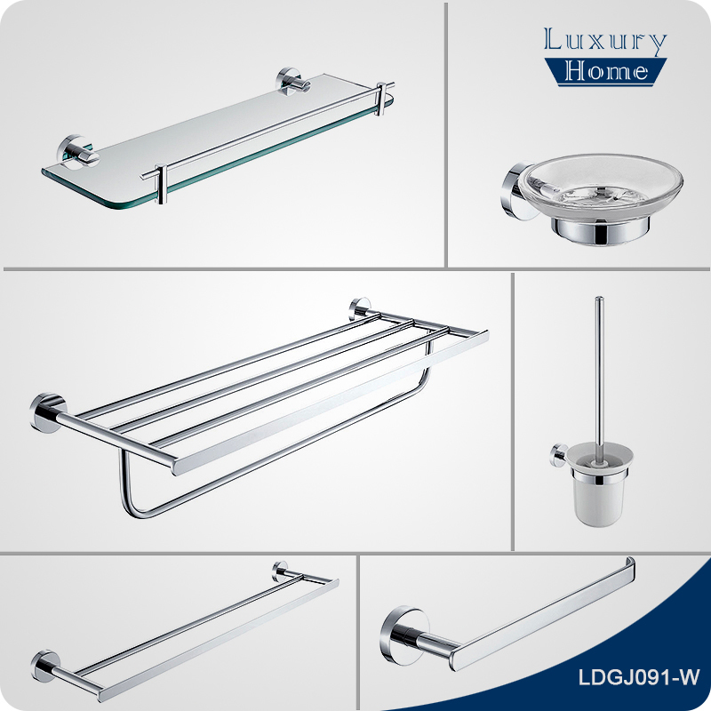 Hot sale wall mounted anti corrosion hotel bathroom for Bathroom accessories kit