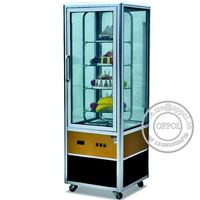Mini cake display refrigerator/bakery countertop showcase/Small pastry cold cooler cabinet/bread fridge