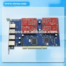 PCI-E 4 ports fxs fxo asterisk card for voip gateway application