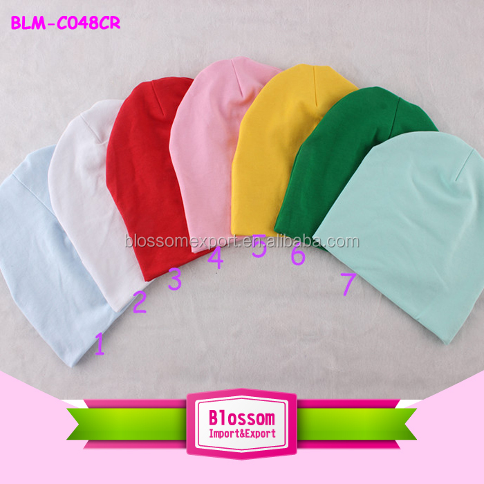 2015 Hot sales! Charming Solid Mix Color cotton wholesale baby hat