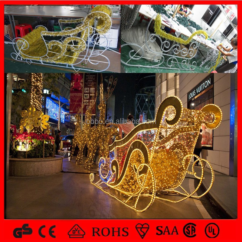 indoor outdoor christmas decoration led light sleigh
