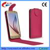 Flip cover PU+PC cellphone case for Samsung Galaxy S6