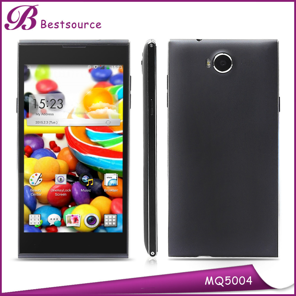 Wholesale Mobile Phone 5inch 1280*720HD 5inch 2gb+16gb Camera 13.0MP Smart Phone Leather Case Free