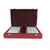 Fully Engraved Classic Gift Mahjong Tiles Set Game with Customized Case