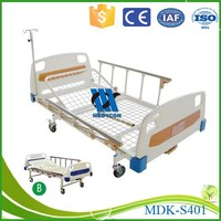 Patient Bed With Single Crank, single function handicapped medical bed