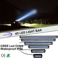 New arrival 4D super bright 180W LED Work Light Bar Cover 2 Row