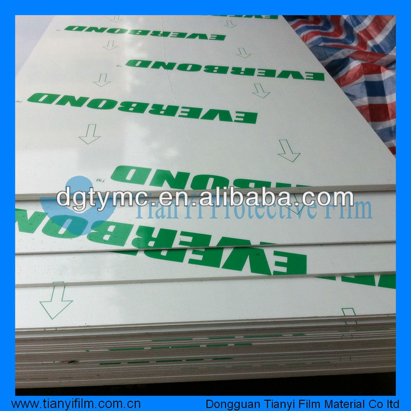 PE/PVDF coated Aluminum Composite panel surface protection film