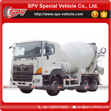 Japanese Brand Chassis Three Axle HINO Concrete Mixer Truck