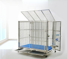 China wholesale high quality pet kennel crate M L XL XXL stainless steel dog cage for sale cheap