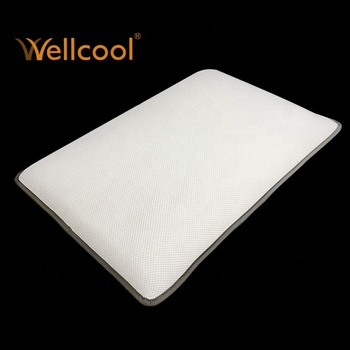 Professional rectangular white wellcool spacer mesh fabric contour pillow