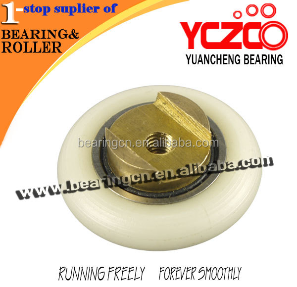 Low friction 606 nylon pulley wheels for hanging door/gate