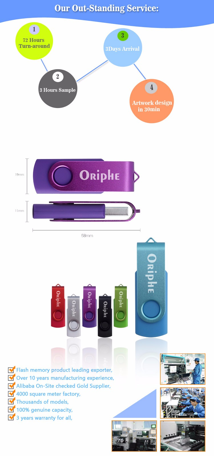 Top seller model-UDN0020 Oriphe-USB Flash Drive-USB2.0/3.0 PROMOTIONAL GIFT