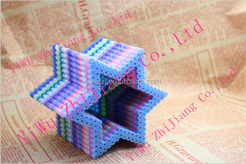 2014 fashion fuse beads 5mm mini hama perler beads good quality diy gift