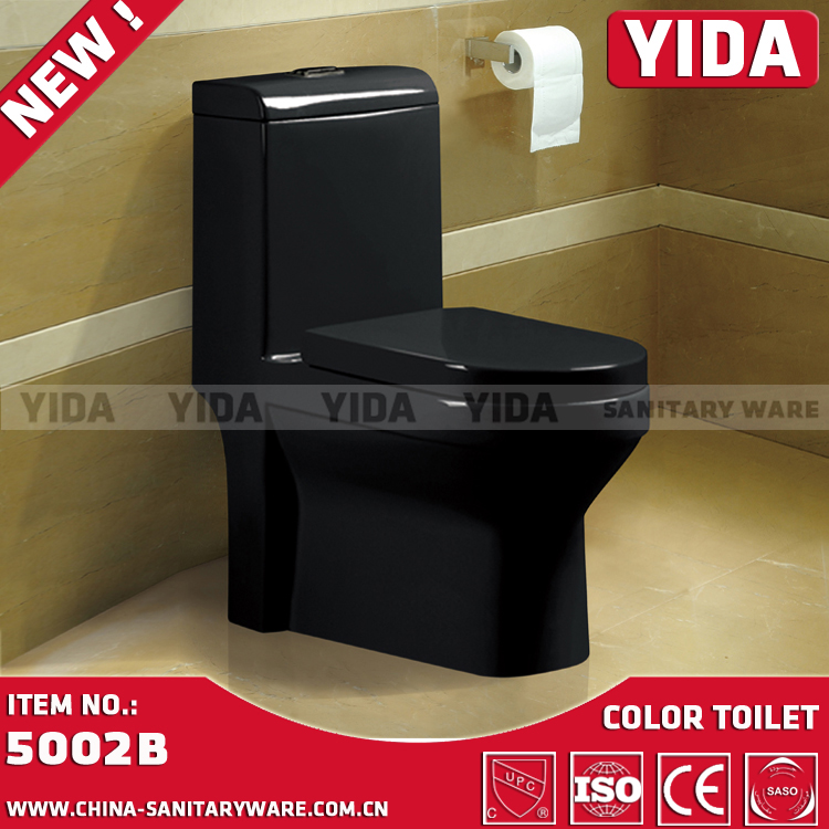 ceramic washdown toilet, one piece black toilets, kinds of white/color china wc