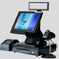 12 Inch Cash Register All In One Pos Pc With Printer ,Scanner ,Cash Drawer ,Customer Display with CE FCC