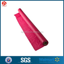 Dark red disposable high quality plastic table cover roll