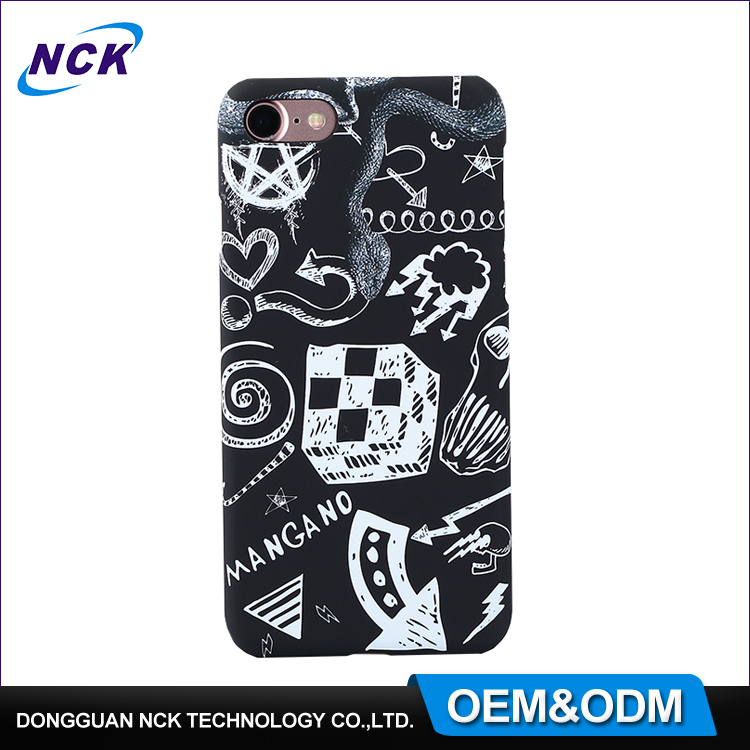 MOQ=100pcs free sample colorful water transfer custom pc phone case for iphone 6 7 7plus