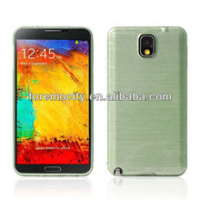 Brush finish Note3 TPU protective case for SAMSUNG Note 3