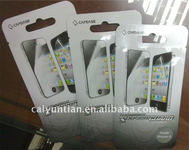 Screen guard screen protection packaging plastic bag