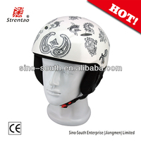 New style skiing costume helmet with visor/full face skiing helmet ballistic helmet visor