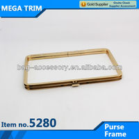 No.5280 Square gold metal cluth box frame with bag purse