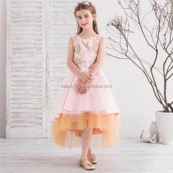 little girls ev2018 new evening party dresses LACE CUTE HOLIDAY kids party dress WEDDING FLOWER GIRL DRESS