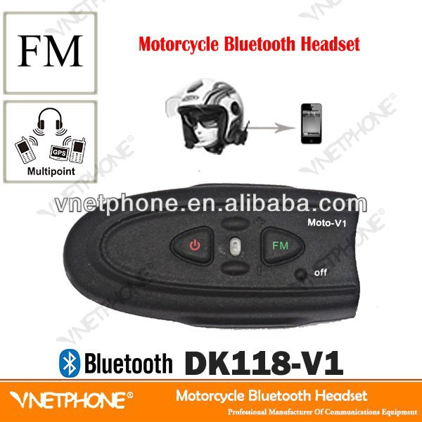 wireless V1 FM bluetooth headsets motorcycle parts and accessories